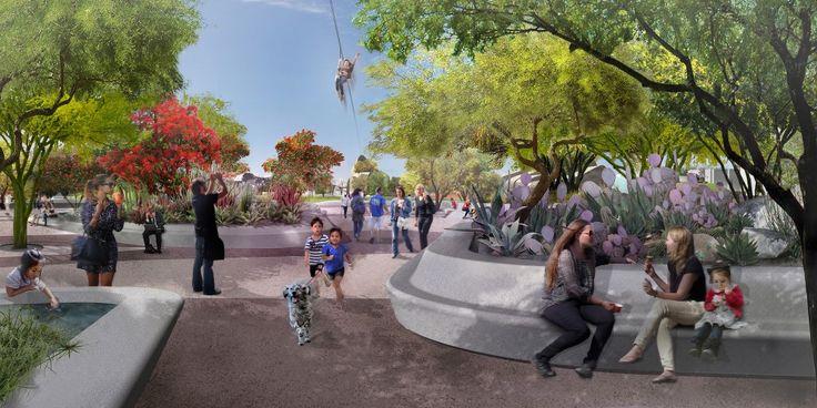 Planned Redesign of Margaret T. Hance Park - Oasis Plaza - Phoenix, AZ