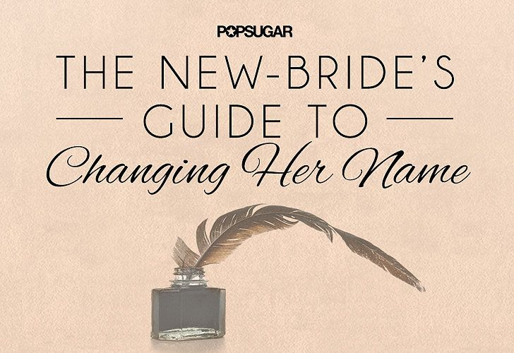 Changing Name Checklist After Marriage | POPSUGAR Smart Living - not sure I'll change my name, but just in case