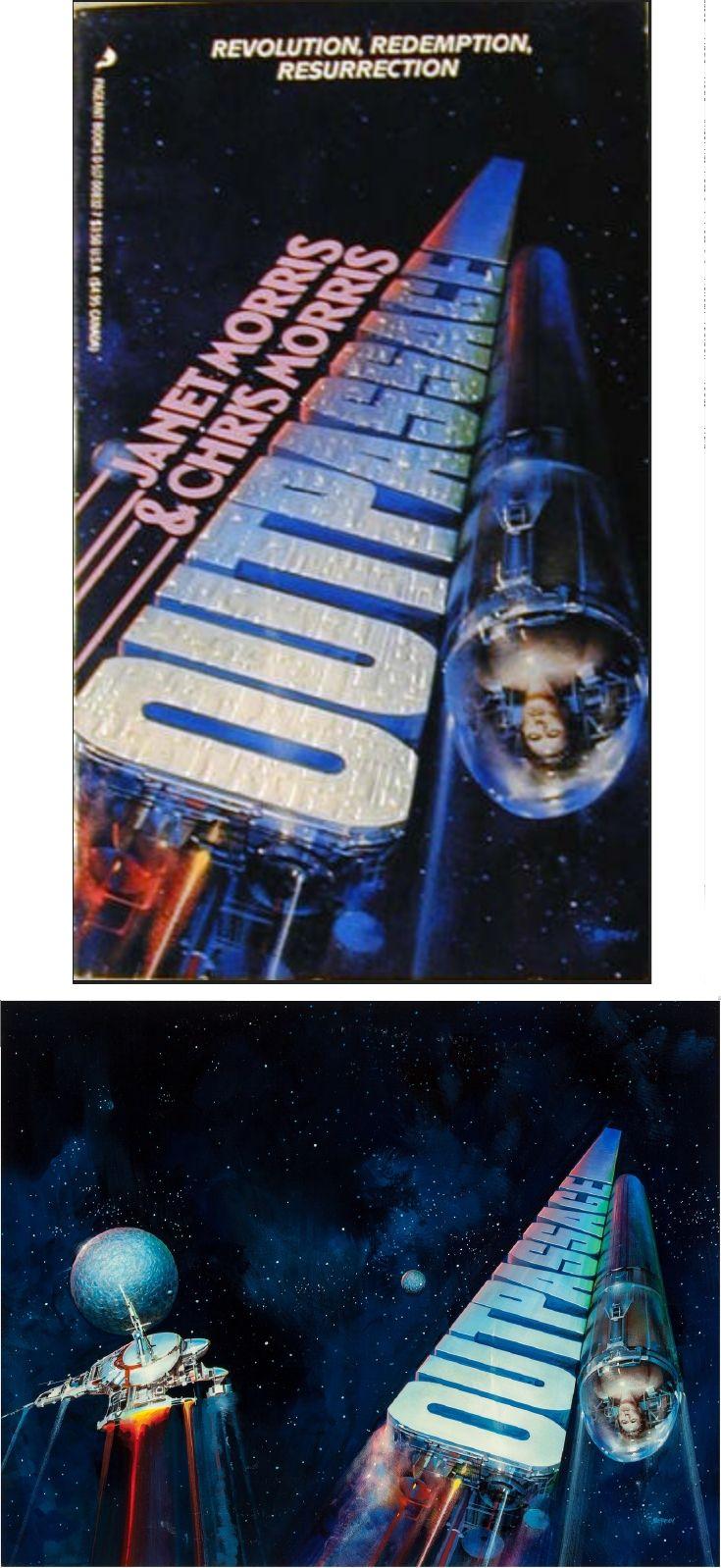 JOHN BERKEY - Outpassage by Chris Morris & Janet Morris - 1988 Pageant Books - cover by amazon - print by fineart.ha