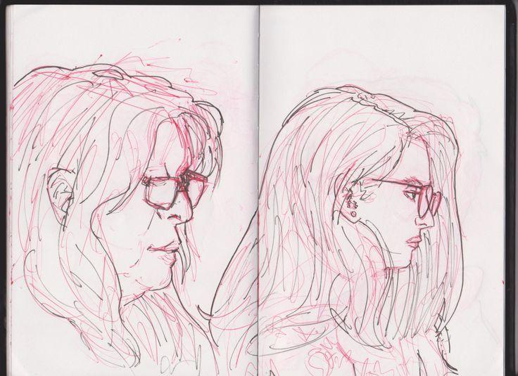 5 minutes portraits #portrait #sketch #doodle #illustration #drawing #art #ARTwork #comicART #mixedmedia