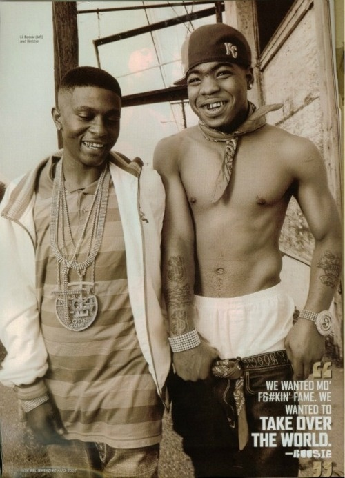 BOOSiE & WEBBiE- love this picture because they are both laughing, the first rappers I ever got into, they will always be OG's.