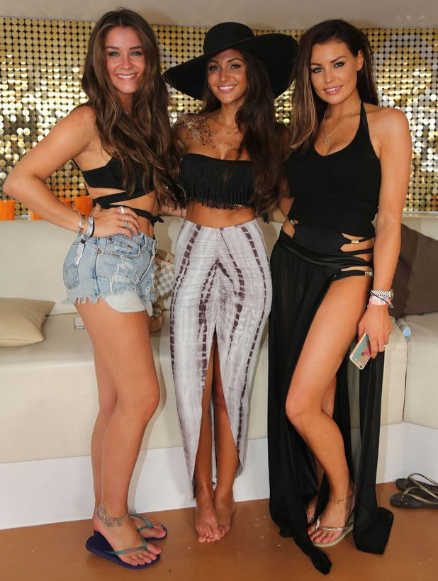 Michelle Keegan, Jessica Wright and Brooke Vincent party at Ocean Beach in Ibiza, 30 August 2015