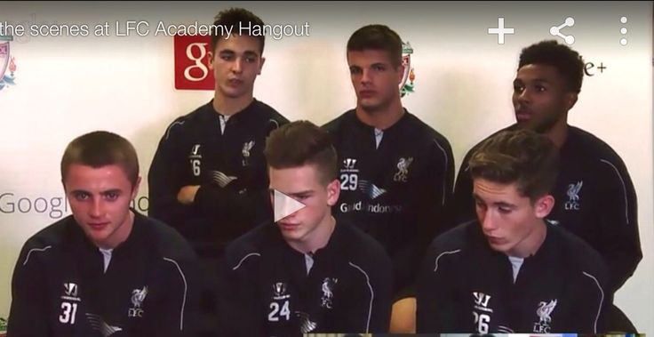 Jordan Rossiter Jerome Sinclair, and others talking  with Robbie Fowler on the Google plus event