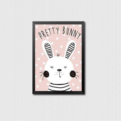 Nordic Style Kids Decoration Pink Rabbit Canvas Art Kids Room Wall Pictures Posters And Prints Wall Art Canvas Painting Unframed-in Painting & Calligraphy from Home & Garden on Aliexpress.com   Alibaba Group
