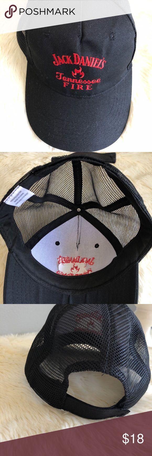 Jack Daniels Tennessee fire ball cap Jack Daniels Tennessee fire ball cap.nwot.mesh back with velcro closure. jack Daniels Other