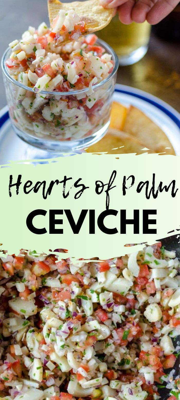 This Vegan Habanero Hearts Of Palm Ceviche Recipe Will Transport You To The Mexican Caribbean With The Combination Ceviche Recipe Vegan Mexican Recipes Recipes