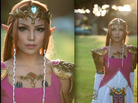Get the Hyrule high fashion look with this Princess Zelda makeup transformation.