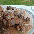 Voici une recette vraiment succulente !!   Ingrédients pour 4 personnes : - 8 grenadins de veau- des morilles séchées de...