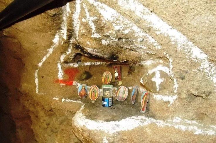 La bendición de Malverde en narcotúnel Tijuana-San Diego