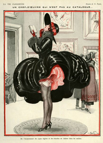 """a masterpiece that is not in the catalog""  ""inconvenience of the light skirts and heating vents at the museum""   La Vie Parisienne, 1922"