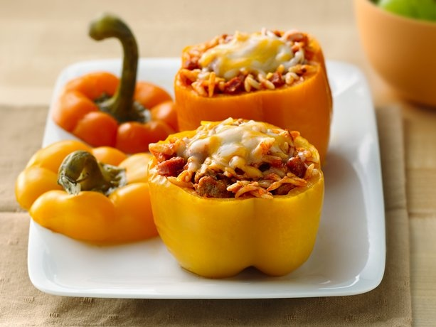 Slow Cooker Pizza-Stuffed Peppers