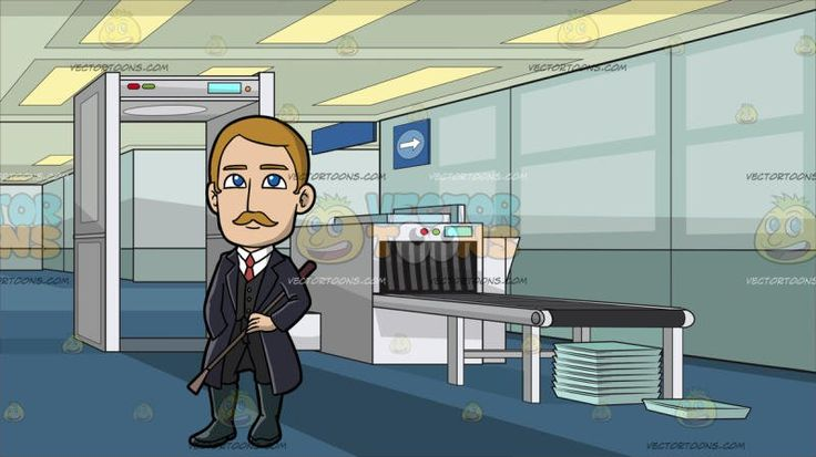 An Affluent Male Missionary At Airport Security Check:  A man with blonde hair and mustache wearing a white dress shirt pale red necktie black vest pants midnight bluish gray boots dark purple trench coat smiles while holding a brown whip in his left hand as he places his right hand inside his coat pocket. Set in an airport security check with a white metal detector luggage scanning machine with a gray conveyor belt light teal trays stacked in top of one another blue carpet paneled ceiling.