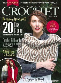 Interweave Crochet — Winter 2018 dzemper kapa pidzama haljina torba