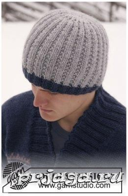 Вязание спицами мужские шапки