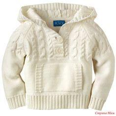 Вяжем детский пуловер с капюшоном. Он-лайн. Дополнено 08,07,15. - Вяжем вместе он-лайн - Страна Мам