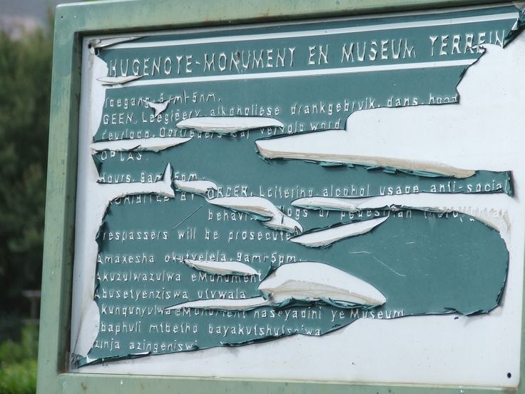 notice board at the Monument