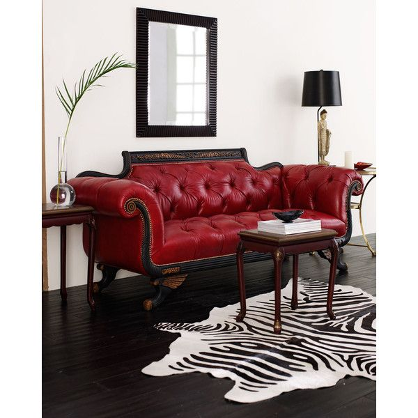 Small Red Leather Sofas: 1000+ Ideas About Red Leather Sofas On Pinterest