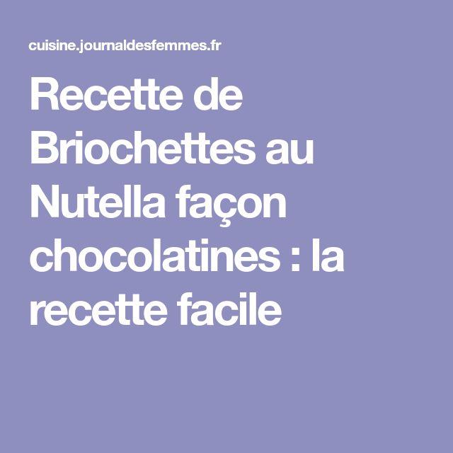 Recette de Briochettes au Nutella façon chocolatines : la recette facile
