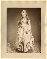 Dumas. Palestine, Femme en Costume de Ville Vintage albumen print. Tirage al
