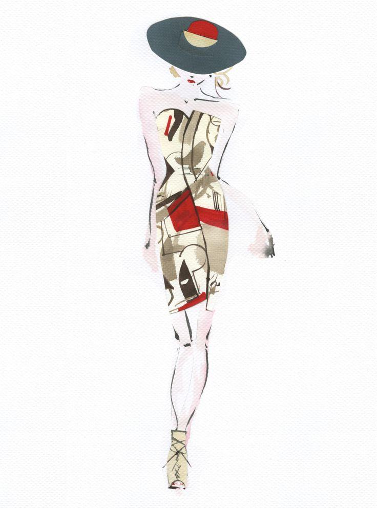 17 best images about fashion designer illustrations oscar for Oscar de la renta wallpaper