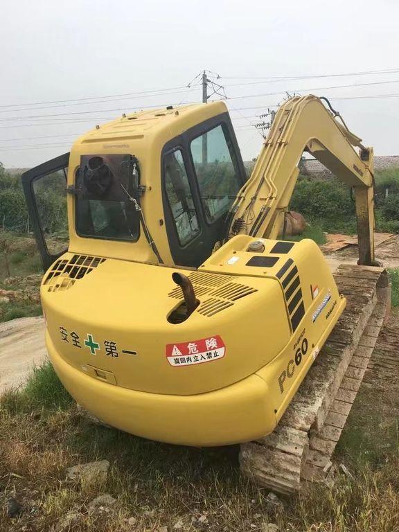 KOMATSU PC60-7 small excavator, 6 ton Japan PC60 tracked excavator