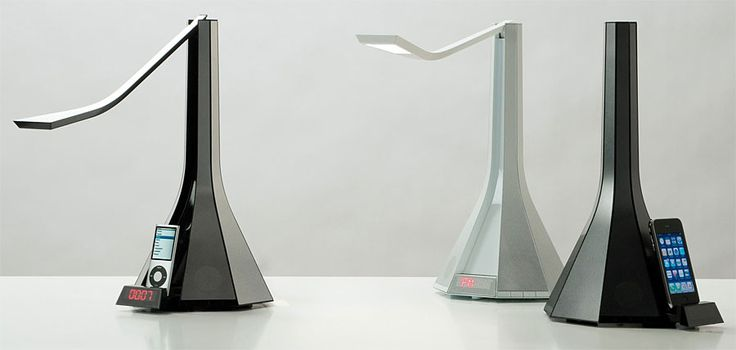 Lampara Diva con dock para ipod, iphone y altavoces - Diva Lamp with dock for ipod and iphone