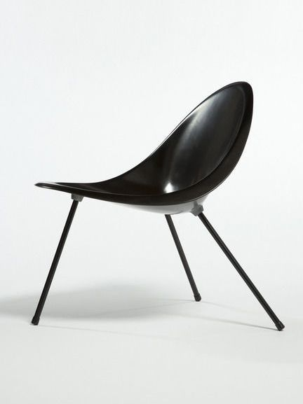 POUL KJÆRHOLM, Aluminum Tripod Chair, originally designed in 1953