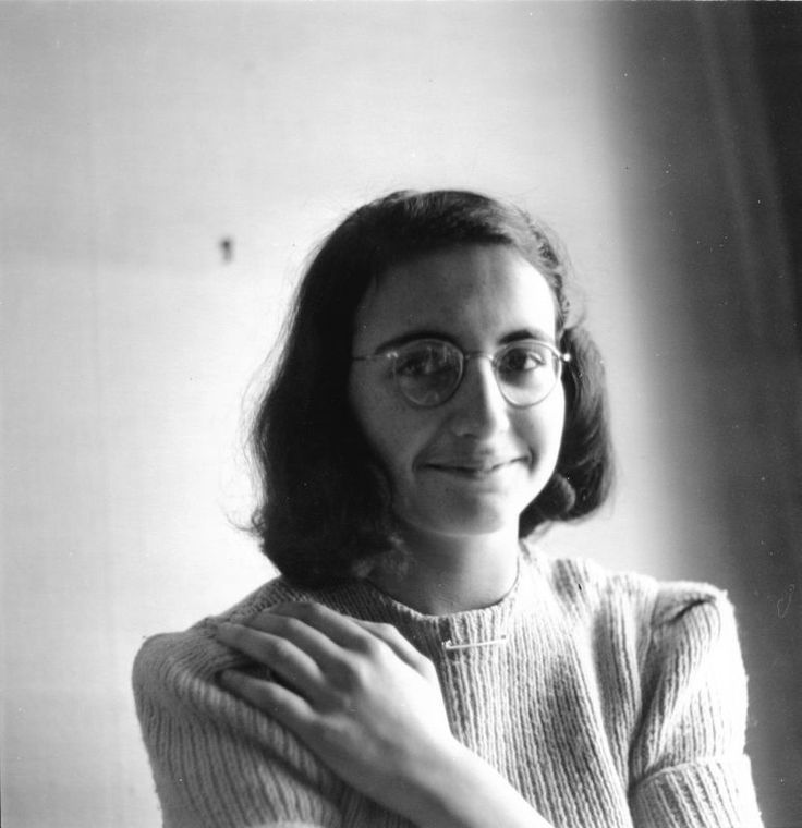 Margot Frank (probably photographed by Anne Frank) at home at Merwedeplein in May of 1941