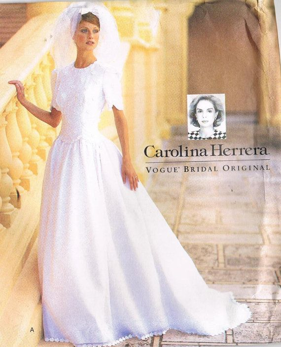 Carolina Herrera Wedding Dress Pattern Vogue 1776 Fitted