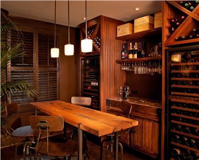 Intimate home tasting room by Guillaume Gentet: Wine Rooms, Guillaume Gentet, Home Wine Cellar, Cellar Ideas, Wine Cellar Bar, Bar Rooms, Bar Ideas, Wine Bar, Cellar Bar Dreams