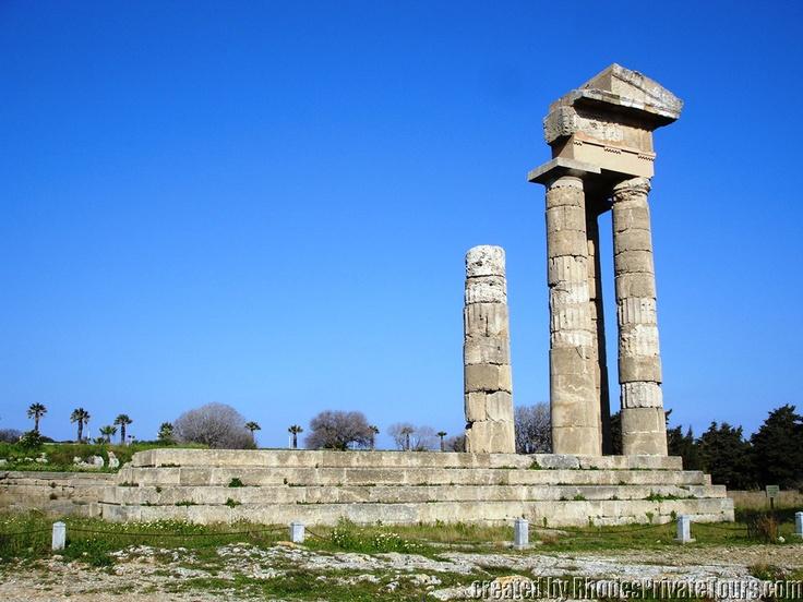 Acropolis of Rhodes City - Temple of Apollo - New Town Rhodes Island Greece