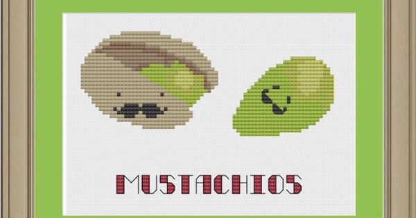 Image result for A pistachio with a mustache