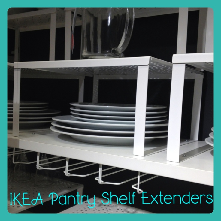 Ikea shelf extenders perfect for pantry kitchen for Perfect kitchen organization