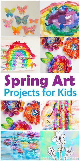beautiful crafts to celebrate spring with your children - Spring Pictures For Children