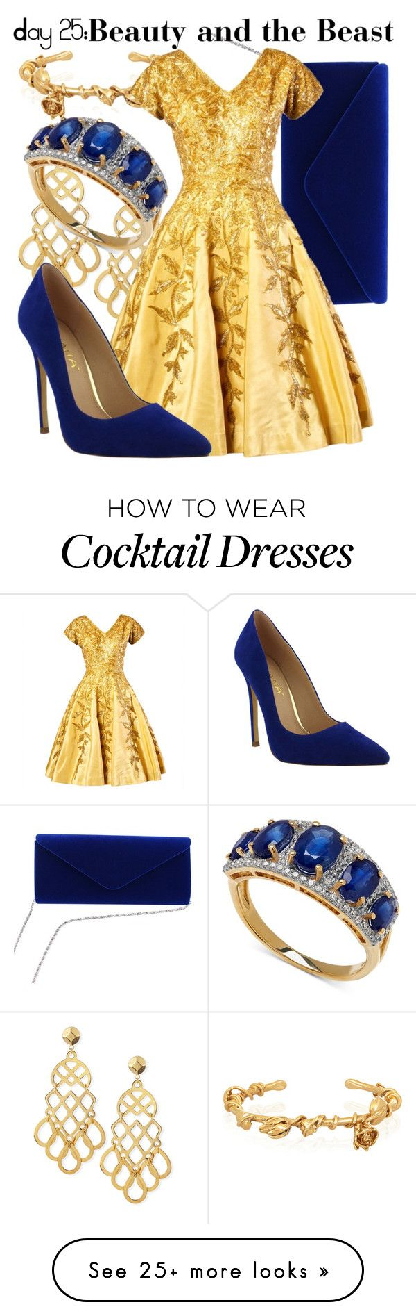 """""""Day 25: Favorite Dance- Beauty and the Beast"""" by fabulousgurl on Polyvore featuring Aurélie Bidermann and Tory Burch"""