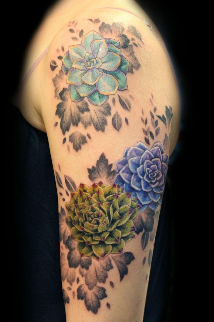 succulents tattoo design - Google Search