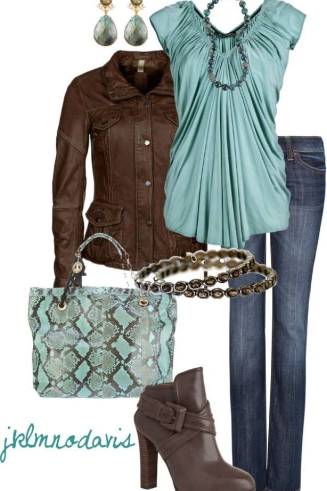 Mint & chocolate brown