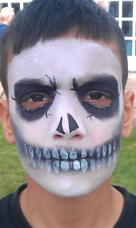 skull facepaint idea