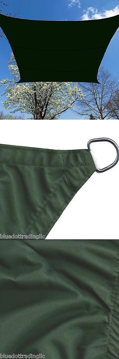 Shade Sails 180997: 16.5' Ft Square Uv Safe Sun Shade Sail Canopy Green Waterproof Lawn Patio Cover -> BUY IT NOW ONLY: $65.07 on eBay!
