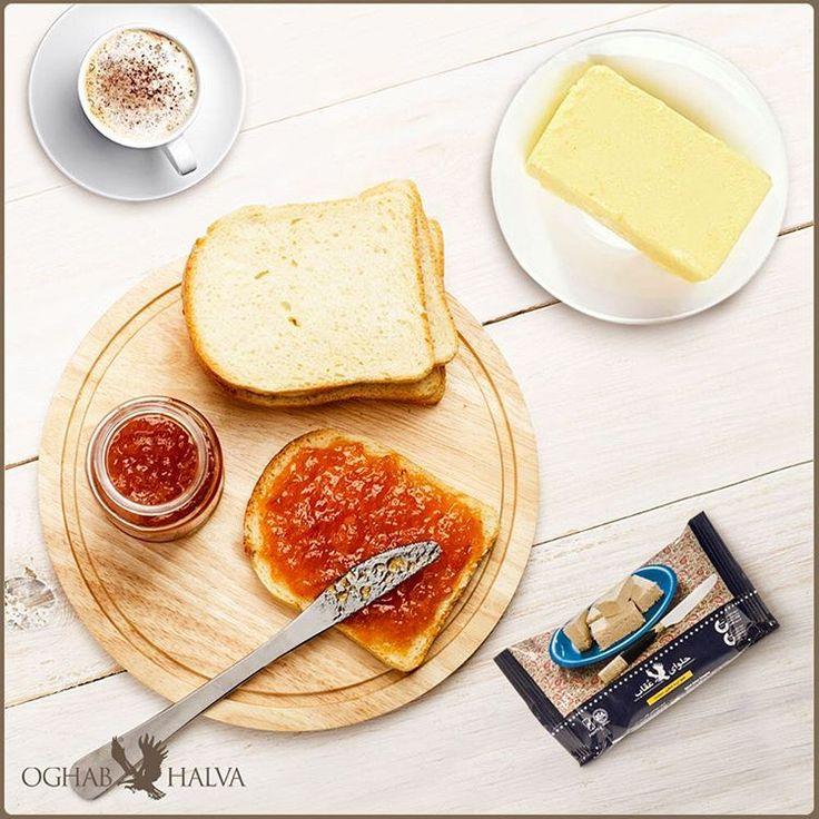 .  یه روز خوب با یه صبحانه خوبتر شروع میشه...  صبح جمعهتون رو خوشمزه شروع کنین  #عقاب #حلوا_عقاب #حلوا_شکری #صبحانه   #oghab #oghabhalva #breakfast