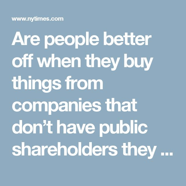 Are people better off when they buy things from companies that don't have public shareholders they need to please?  The answer, at least in the nearly $200 billion auto insurance industry, appears to be yes.  That's the conclusion of a new and comprehensive study examining the claims-paying histories of more than 300 auto insurers in the last five years.