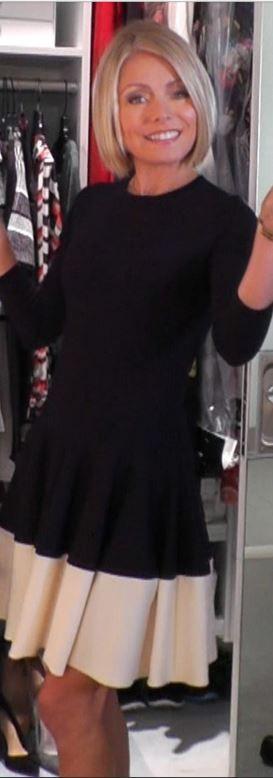 Dress - Alexander McQueen Alexander McQueen Jewel-Neck Drop-Waist Dress, Navy/White