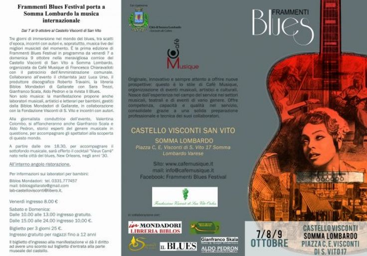 """A Somma Lombardo tre giorni di musica con """"Frammenti Blues Festival"""""""