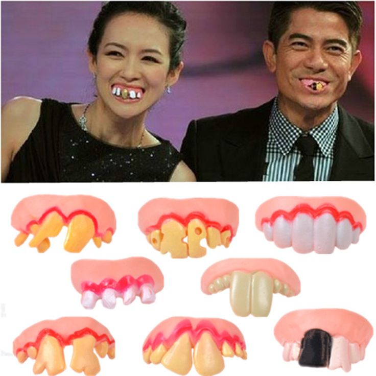 baby Funny Toys Vampire zombie teeth funny dummy fool the whole toy Halloween tinkling with funny false braces Novelty toys