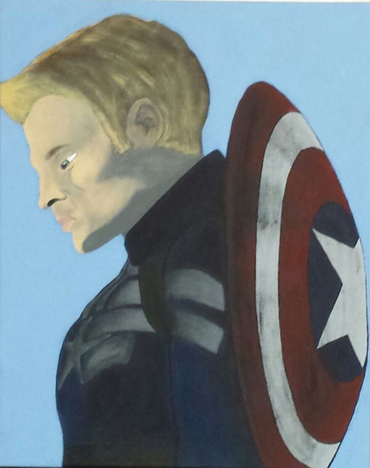 Painted Canvas- Captain America