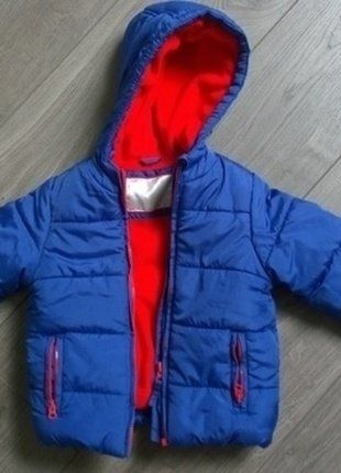 Doudoune chaude Mothercare bébé 12-18 mois bleu et rouge