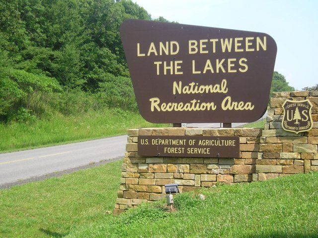 The Land Between The Lakes National Recreation Area is a United States National Recreation Area located in Kentucky and Tennessee between Lake Barkley and Kentucky Lake.