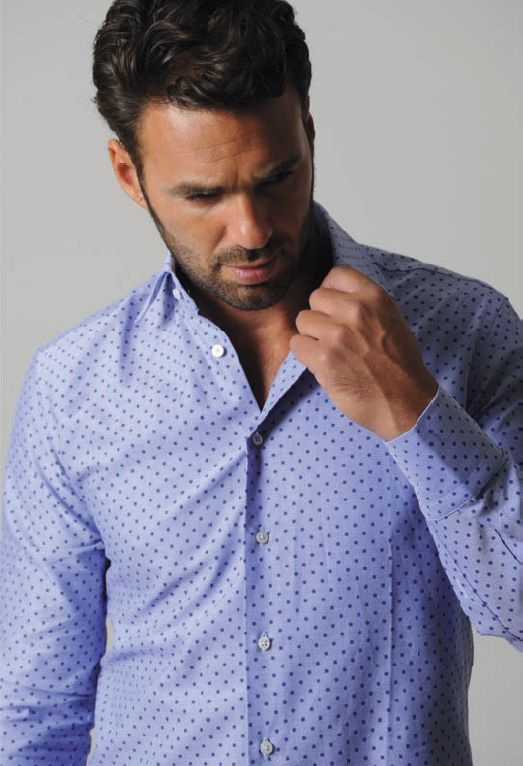 poka dot mens tailored shirt