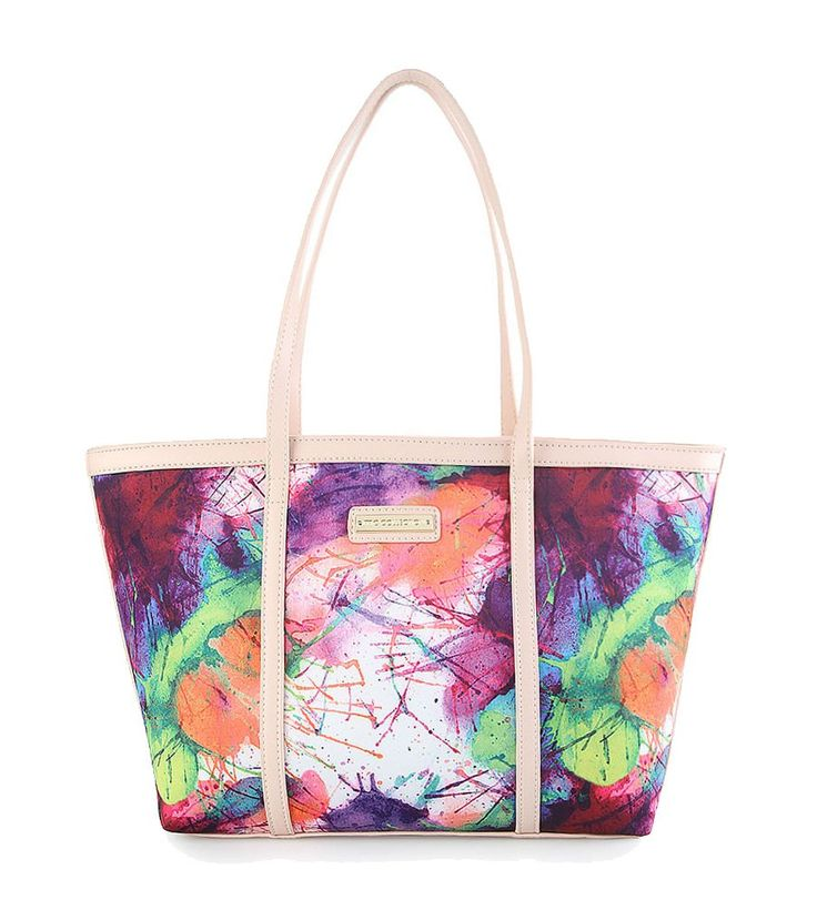 Terisa Shoulder Bag by Mariel Claire, shoulder bag with colorful tie dye pattern. Perfect for carrying your thing, made from synthetic leatherm with beige sreap, zipper closure, one main compartment, inner pocket and gadget sleeve, handle drop up to 25 cm.   http://www.zocko.com/z/JFewE