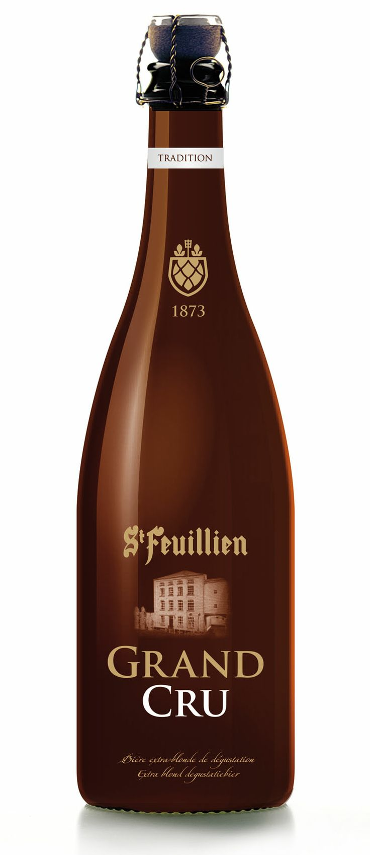 "Beer ""St-Feuillien Grand Cru"" from the brewery located in Le Roeulx"